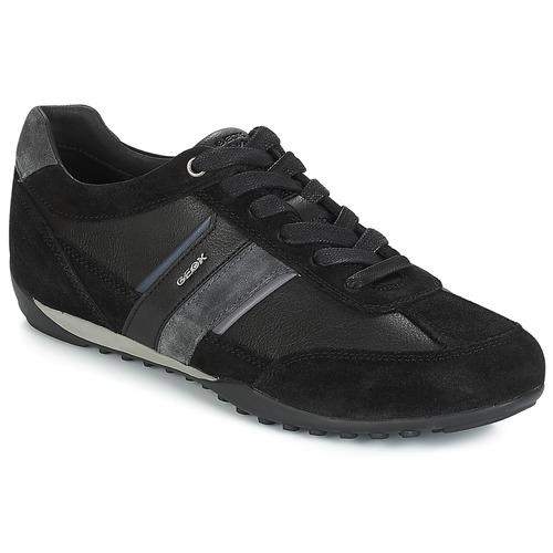Geox U WELLS Schwarz / Marine  Schuhe Sneaker Low Herren 99,99