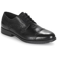 Schuhe Herren Derby-Schuhe Geox U HILSTONE 2FIT Schwarz