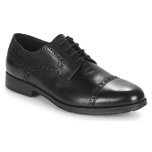 Geox U HILSTONE 2FIT Schwarz  Schuhe Derby-Schuhe Herren 135