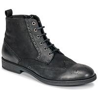 Schuhe Herren Boots Geox U JAYLON Schwarz