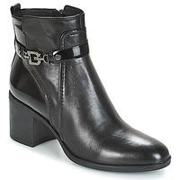 Schuhe Damen Low Boots Geox D GLYNNA Schwarz