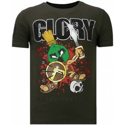 Kleidung Herren T-Shirts Local Fanatic Glory Martial Strass Grün
