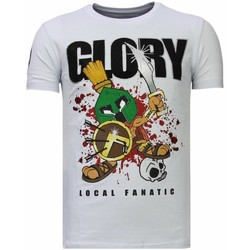 Kleidung Herren T-Shirts Local Fanatic Glory Martial Strass Weiß