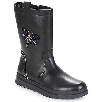 Schuhe Mädchen Klassische Stiefel Geox J GILLYJAW GIRL Schwarz