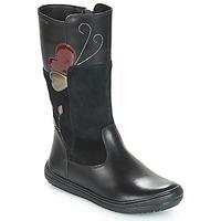 Schuhe Mädchen Klassische Stiefel Geox J HADRIEL Schwarz