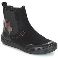 Schuhe Mädchen Boots Geox J HADRIEL GIRL Schwarz