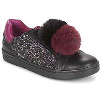 Schuhe Mädchen Sneaker Low Geox J DJROCK GIRL Schwarz / Violett