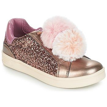Schuhe Mädchen Sneaker Low Geox J DJROCK GIRL Beige / Rose