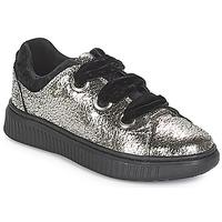 Schuhe Mädchen Sneaker Low Geox J DISCOMIX GIRL Silbern