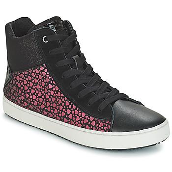 Schuhe Mädchen Sneaker High Geox J KALISPERA GIRL Schwarz / Rose