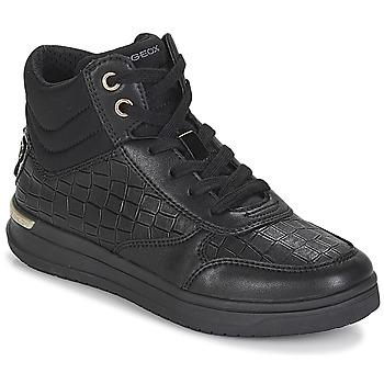 Schuhe Mädchen Sneaker High Geox J AVEUP GIRL Schwarz / Gold