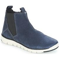 Schuhe Jungen Boots Geox J XUNDAY BOY Marine