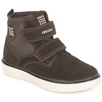 Schuhe Jungen Sneaker High Geox J RIDDOCK BOY Braun / Marine
