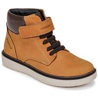 Schuhe Jungen Sneaker High Geox J RIDDOCK BOY WPF Gelb
