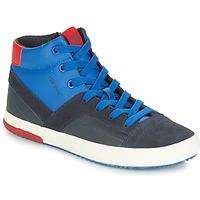 Schuhe Jungen Sneaker High Geox J ALONISSO BOY Marine / Rot