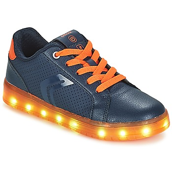 Schuhe Jungen Sneaker Low Geox J KOMMODOR BOY Marine / Orange