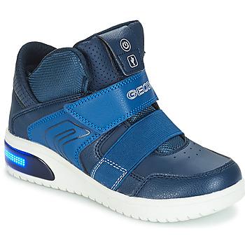 Schuhe Jungen Sneaker High Geox J XLED BOY Marine