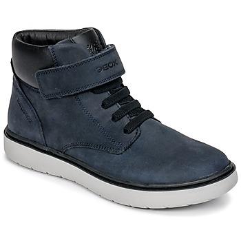 Schuhe Jungen Sneaker High Geox J RIDDOCK BOY WPF Marine