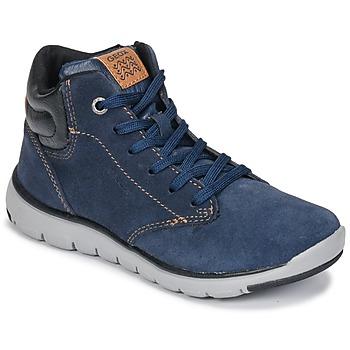 Schuhe Jungen Sneaker High Geox J XUNDAY BOY Marine / Schwarz