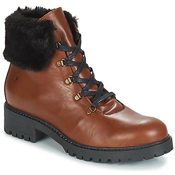 Schuhe Damen Boots Casual Attitude JENO Cognac