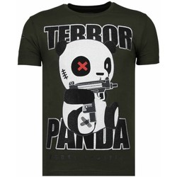 Kleidung Herren T-Shirts Local Fanatic Terror Panda Strass Grün