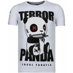 Kleidung Herren T-Shirts Local Fanatic Terror Panda Strass Weiß