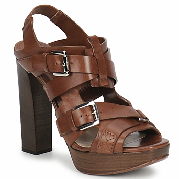 Schuhe Damen Sandalen / Sandaletten Michael Kors MOWAI Braun