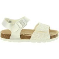 Schuhe Mädchen Sandalen / Sandaletten Cheiw 47124 Blanco