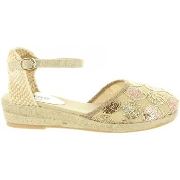 Schuhe Mädchen Leinen-Pantoletten mit gefloch MTNG 45706 R1 Gold