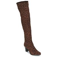 Schuhe Damen Klassische Stiefel André PRISCA 3 Leopard