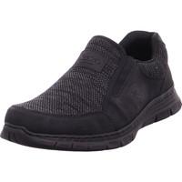 Schuhe Herren Slip on Rieker - B4873-04 schwarz/grau-schwarz/schw 04