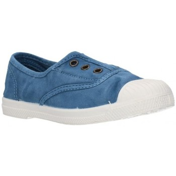 Schuhe Jungen Sneaker Low Natural World 470E Petroleo Niño Azul bleu
