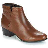 Schuhe Damen Low Boots André PRIME Braun