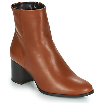 Schuhe Damen Low Boots André DARA Camel