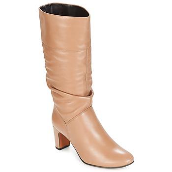 Schuhe Damen Klassische Stiefel André SARA Beige