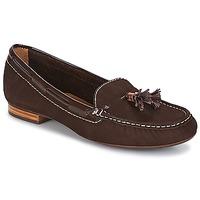 Schuhe Damen Slipper André DANY Braun