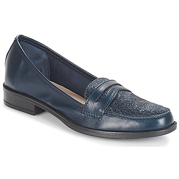 Schuhe Damen Slipper André LONG ISLAND Marine