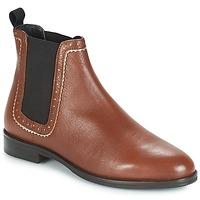 Schuhe Damen Boots André CARLOTA Braun