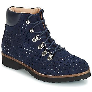 Schuhe Damen Boots André CALCEDOINE Blau