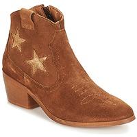 Schuhe Damen Boots André CELESTE Camel