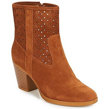 Schuhe Damen Low Boots André DELIA Camel