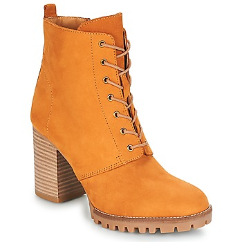 Schuhe Damen Low Boots André ROVER Gelb