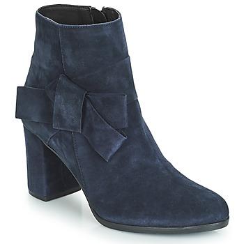 Schuhe Damen Low Boots André LEONOR Blau