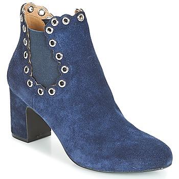 Schuhe Damen Low Boots André ALESSIA Marine