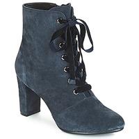 Schuhe Damen Low Boots André JUSTINE Blau
