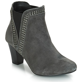 Schuhe Damen Low Boots André BRITANIE Grau