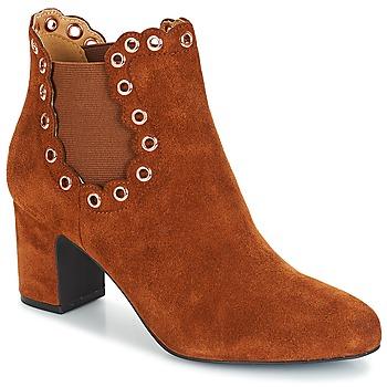 Schuhe Damen Low Boots André ALESSIA Camel