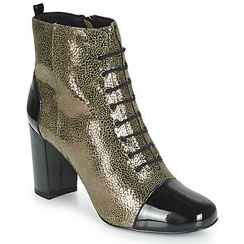 Schuhe Damen Low Boots André CONGA Kaki