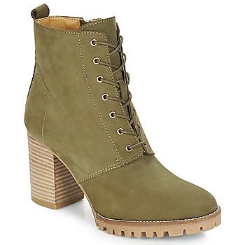Schuhe Damen Low Boots André ROVER Kaki