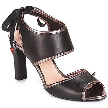 Schuhe Damen Sandalen / Sandaletten André NEVERLAND Schwarz